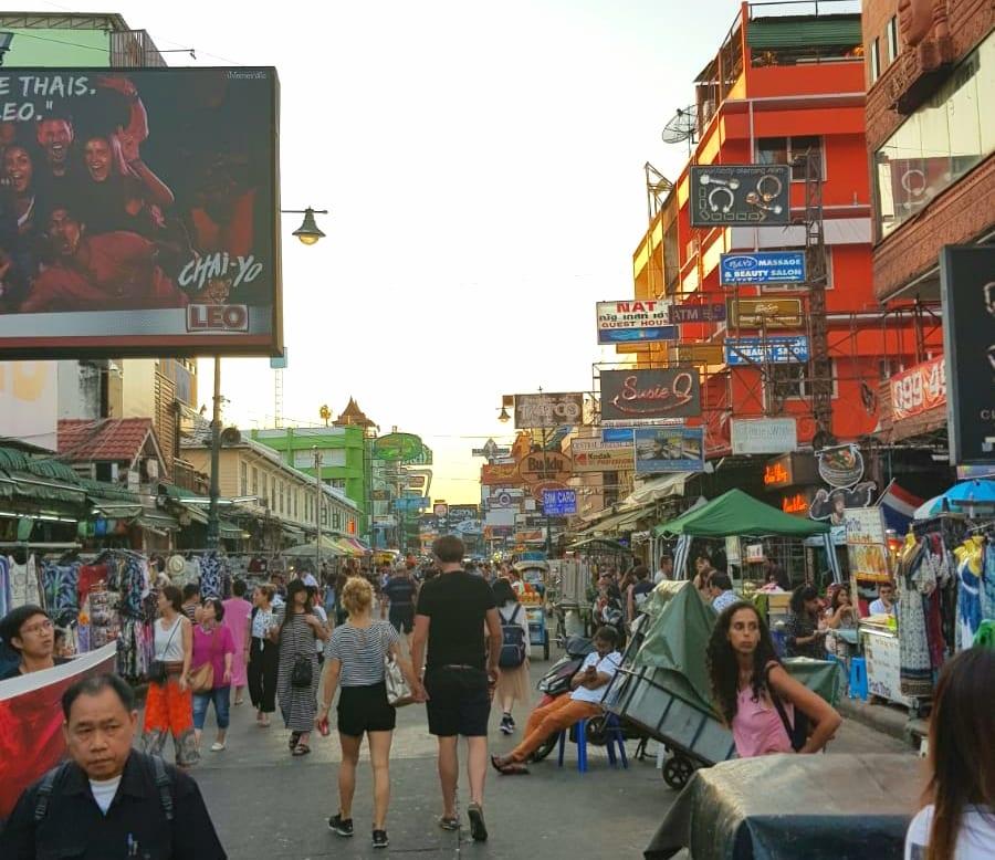 De eerste ervaring met Bangkok