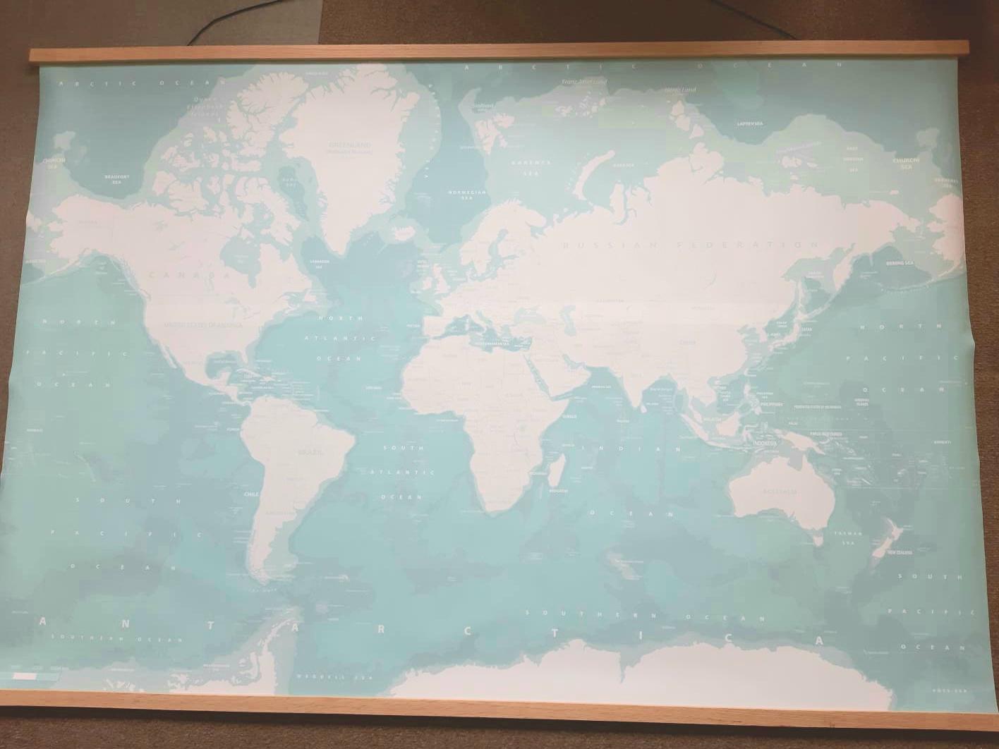Wereldkaart voor in huis – Review