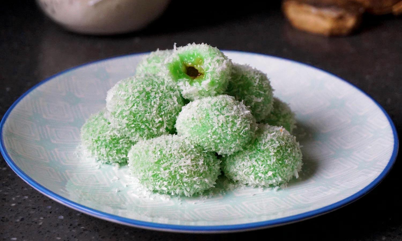 Klepon – Indonesische rijstballetjes met kokos